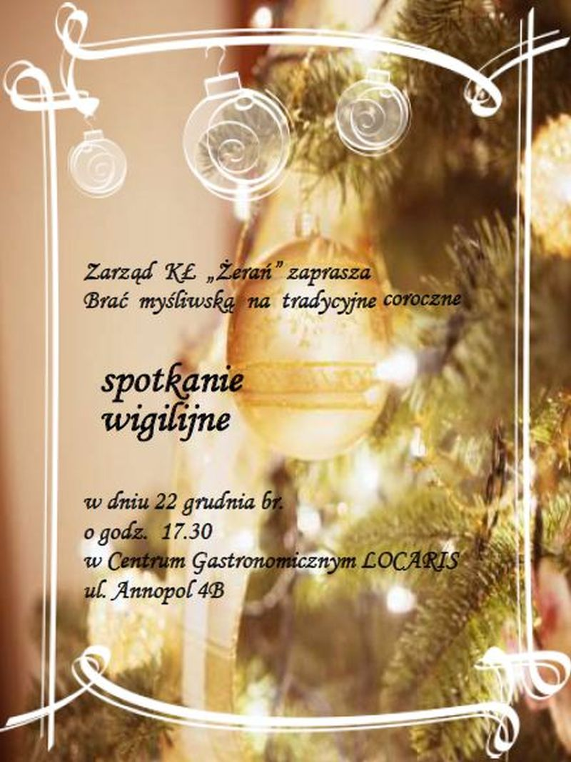 Spotkanie Wigilijne 2014r